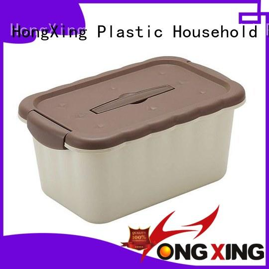 HongXing reliable quality plastic storage boxes with wheels good design for rice