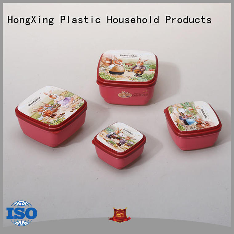 box plastic food storage square for noodle HongXing