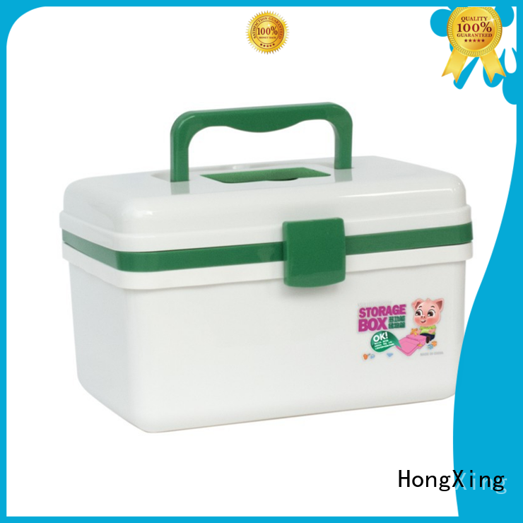 HongXing green plastic first aid box with good quality for home