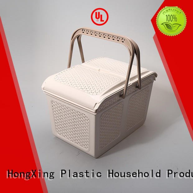 different sizes small plastic baskets lids with good quality for storage books