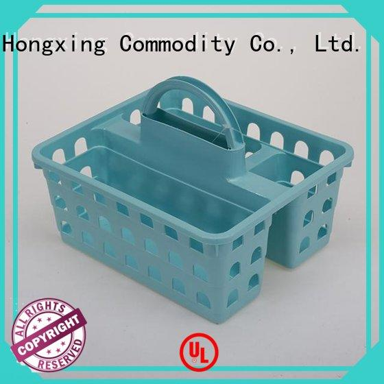 HongXing different styles plastic basket with handle with good quality for storage clothes
