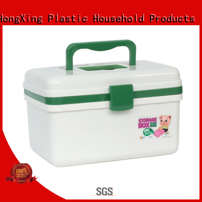 HongXing box plastic tool box with reasonable structure for office