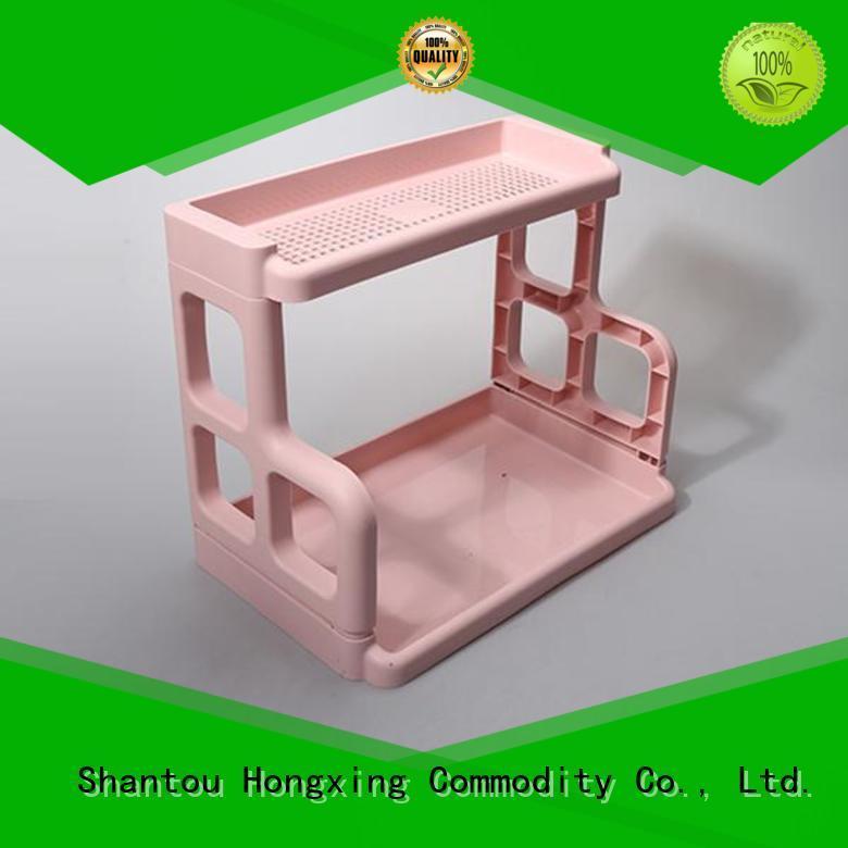 HongXing threelayers plastic racks for storage factory price for juice