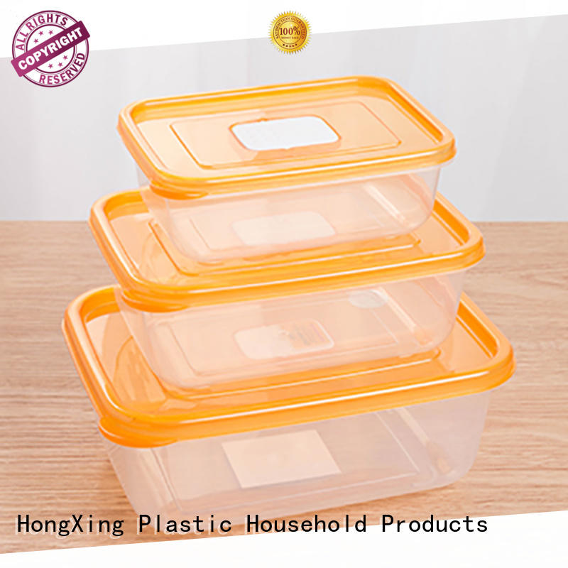 HongXing compartments food grade plastic containers manufacturer for cookie