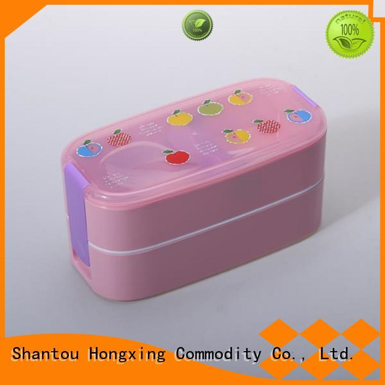 HX0018524 2-Layer Kid's Plastic Bento Lunch Box&plastic tiffin lunch box 400ML + 450ML BPA Free