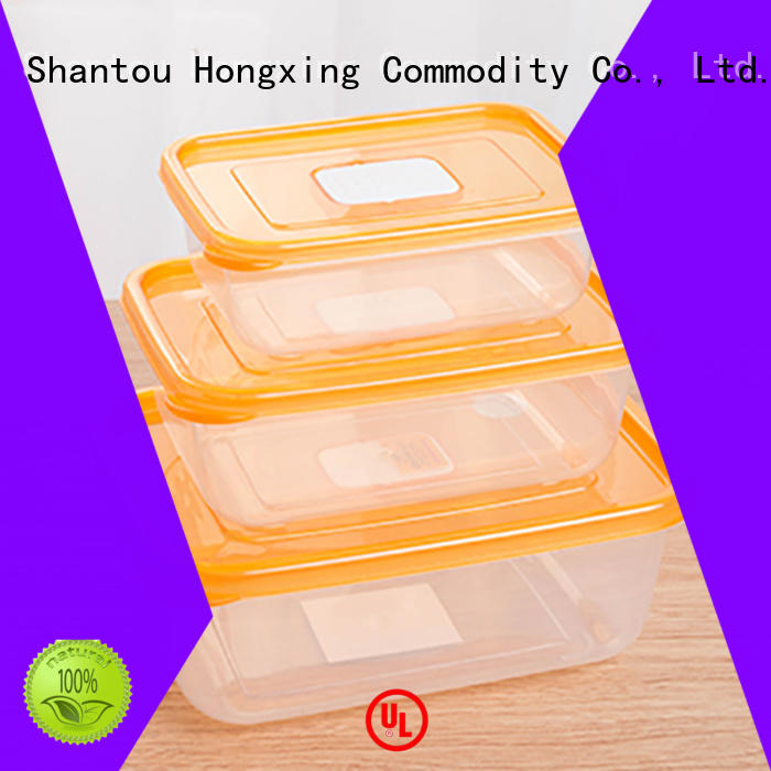 Japanese style plastic food storage containers sealing with many colors for cookie