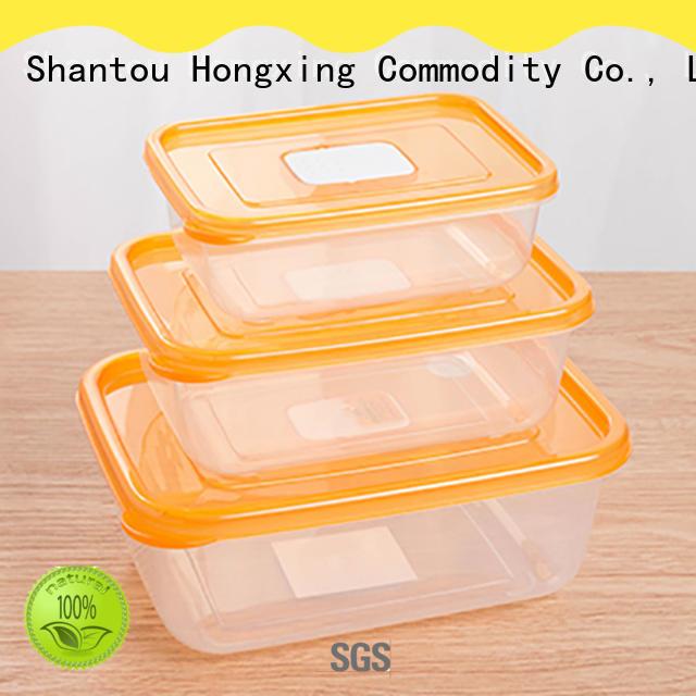 3Pcs/Set plastic Food Container meals Grade Plastic Fresh-Keeping Box