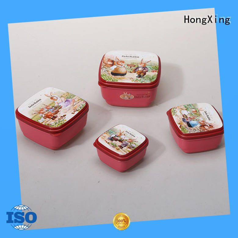 HongXing reliable quality hard plastic food containers directly sale for cookie