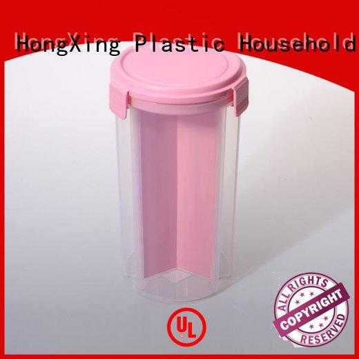 square plastic food containers material for snack HongXing