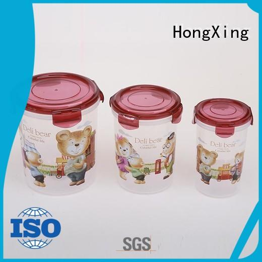 HongXing reliable quality airtight food storage containers factory price for salad