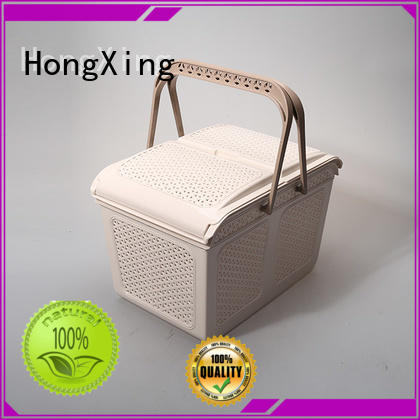 different printing plastic basket with handle comfy with reasonable structure for storage toys