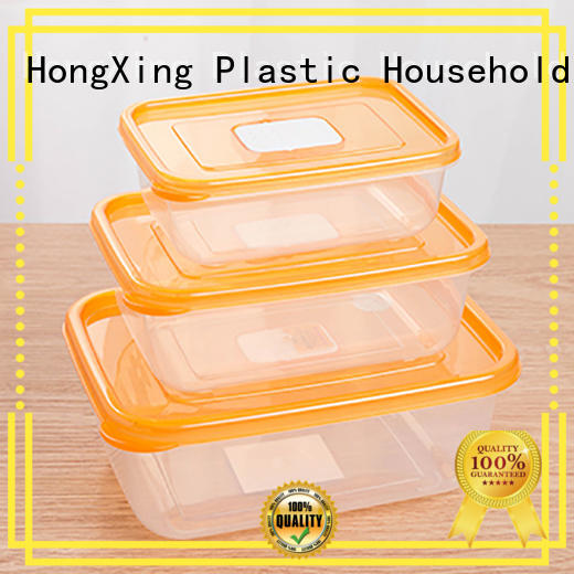 storage microwaving food in plastic containers with many colors for snack HongXing