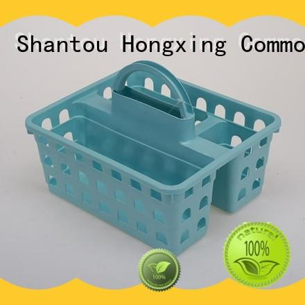 HongXing different sizes plastic basket with handle comfy for storage toys