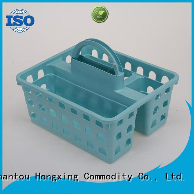 HongXing different layers plastic basket with handle for storage household items for storage clothes