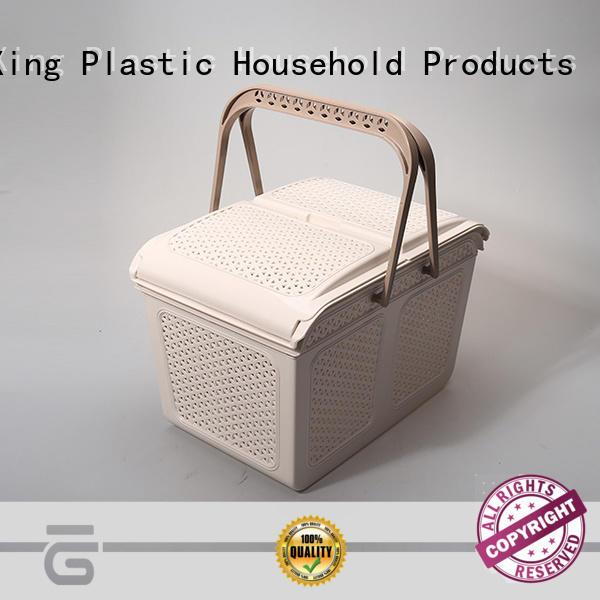 white plastic storage basket with affordable price HongXing