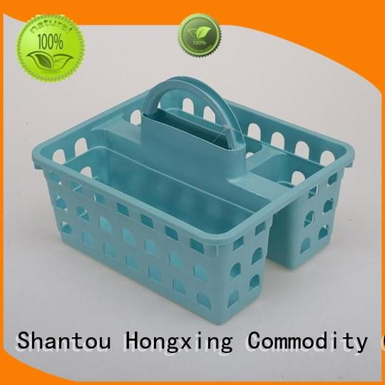 different capacities plastic basket with handle hollow with reasonable structure for storage toys