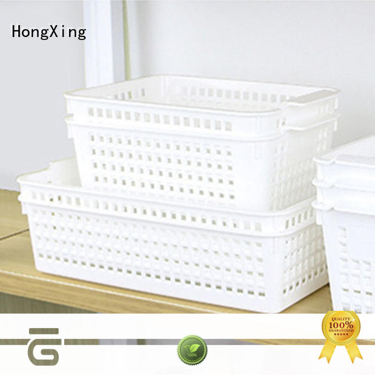 HongXing different printing plastic basket with excellent performance for storage clothes