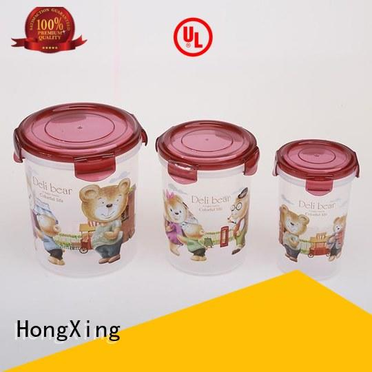 HongXing airtight plastic food storage containers directly sale for bread