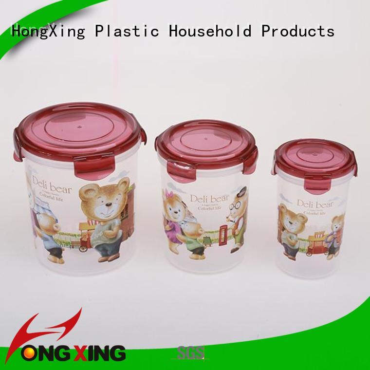 HongXing lids plastic food container storage customization for bread