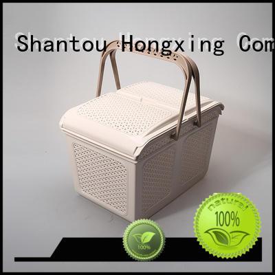 plastic picnic basket stackable for storage jars HongXing