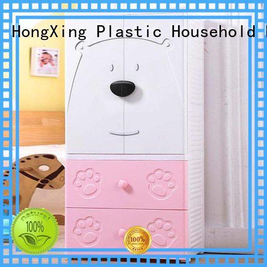 3 4 5 Layer double door open baby plastic storage cabinet wardore