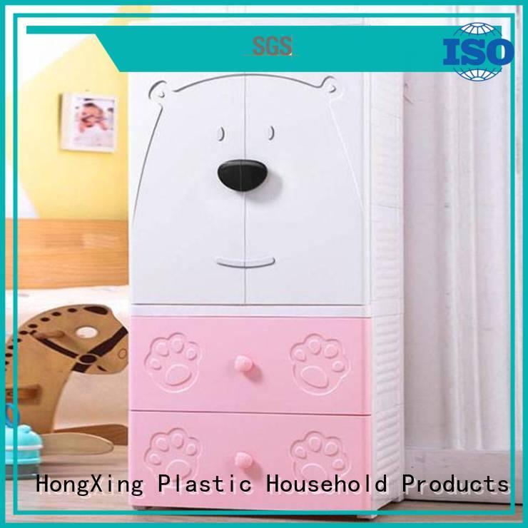 foldable plastic wardrobe open for bedroom HongXing