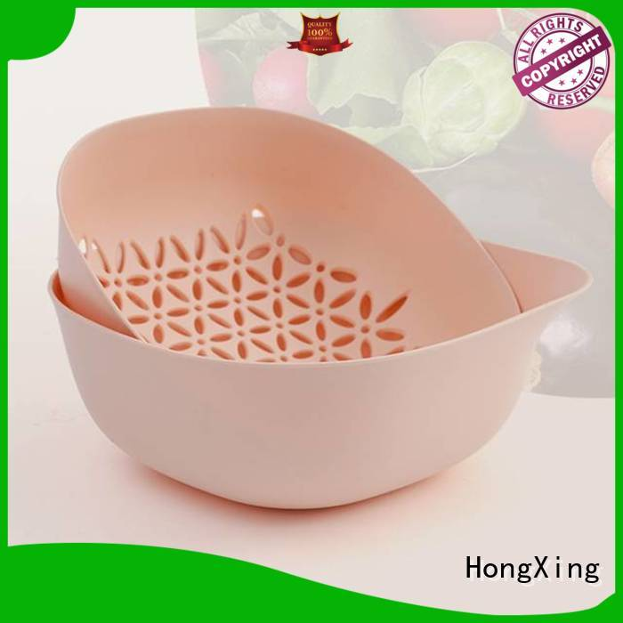 HongXing colander plastic kitchen colander to store vegetables