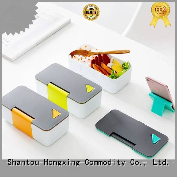 HongXing pattern lunch containers stable performance for cookie