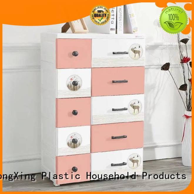 Affordable plastic clothes wardrobe order now for storage clothes HongXing