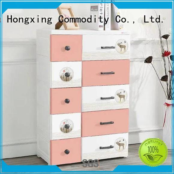 HongXing fashionable plastic drawers for clothes certifications for storage toys