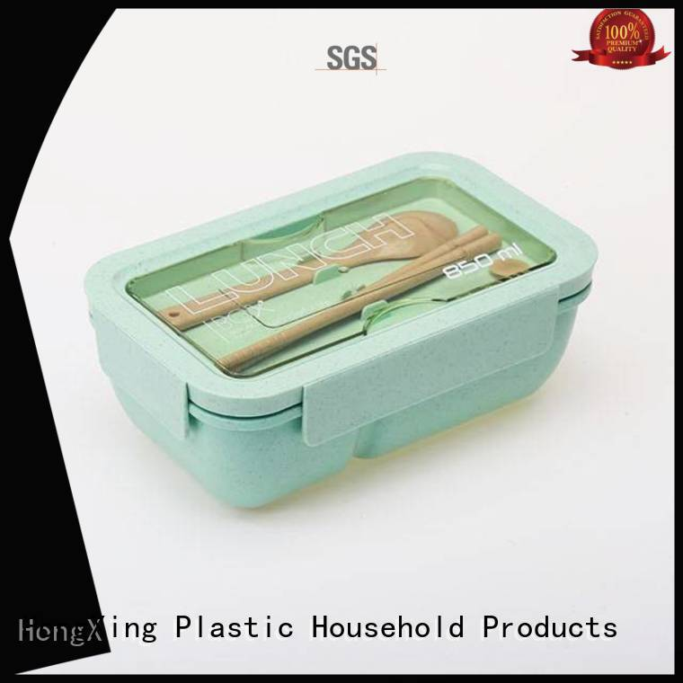 HongXing spoon plastic lunch box manufacturer reliable quality for stocking fruit
