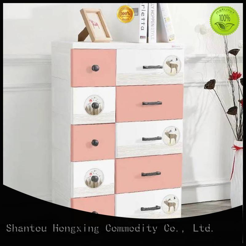 HongXing artistic plastic cupboard for clothes long-term-use for room