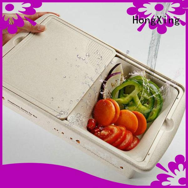 HongXing affordable plastic colander with handle cutting for vegetables