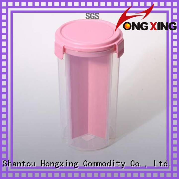 HongXing Japanese style hard plastic food containers keeping for cookie