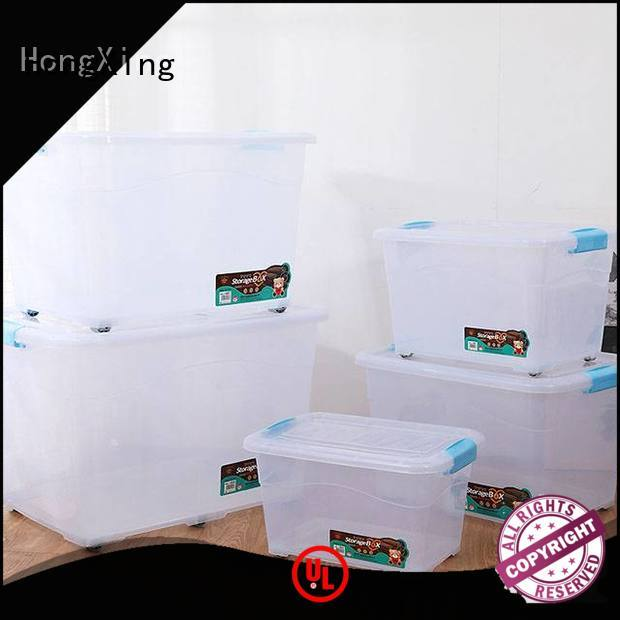 wheels plastic storage boxes with lids stable performance for salad HongXing