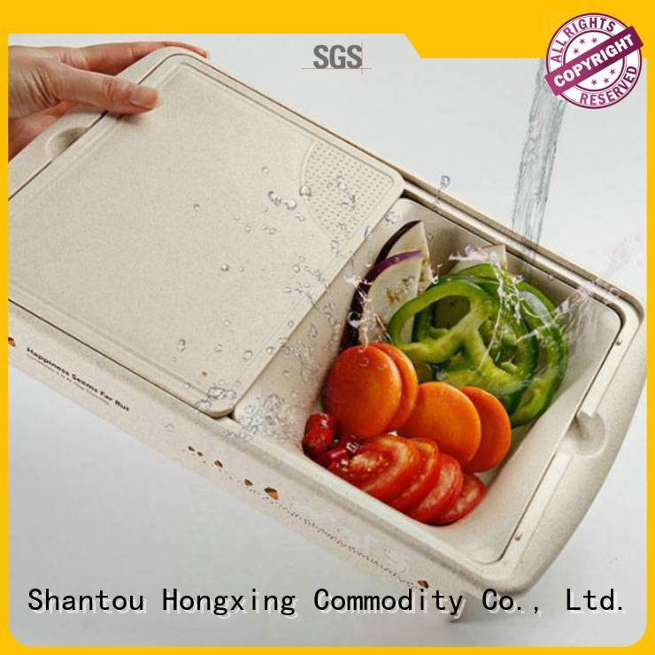 HongXing portable plastic strainer in different color to store vegetables