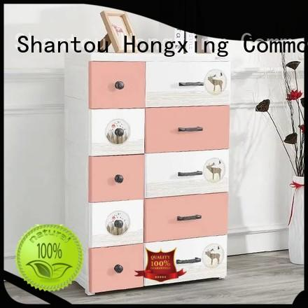 HongXing drawer plastic cupboard for baby China supplier for storage toys