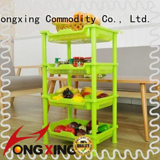 HongXing favorable price kitchen racks plastic from manufacturer for juice