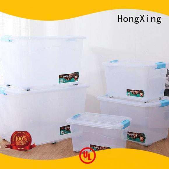 HX0030461 Clear Plastic Storage Box with Wheels 30L, 40L, 70L, 120L, 180L