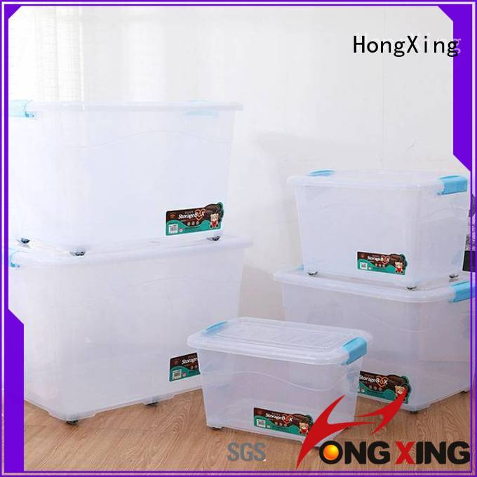 HongXing clear container box plastic stable performance for vegetable