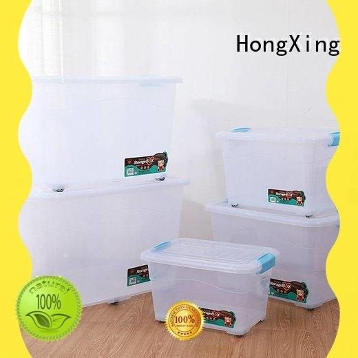 HongXing rectangle plastic storage containers for sale good design for snack